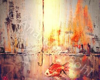 Colorful Fish Painting- Digital Painting Print