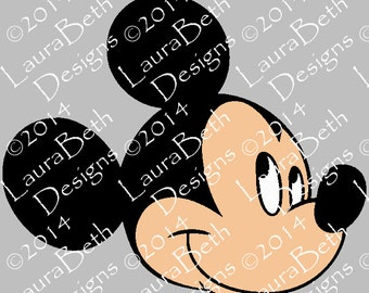 Mickey Mouse Head Face Digital Design - Full Embroidery Designs INSTANT DOWNLOAD ~ 4x4, 5x7 and 6x10 Sizes