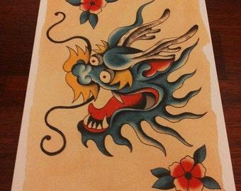 Tattoo Flash - dragon