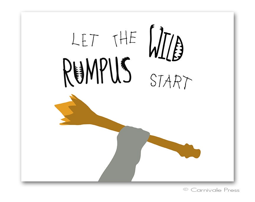 image about Let the Wild Rumpus Start Printable called Where by Factors Are Enable Rumpus Commence King Good Graphic Gallery
