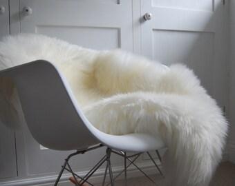 Ivory sheepskin rug long haired luxury cosy nordic scandinavian decor interior