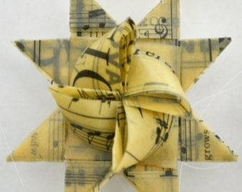 Vintage Sheet Music Christmas Ornaments - Set of 6