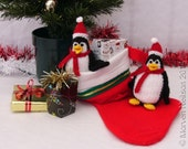 Hand-knitted Christmas Penguin