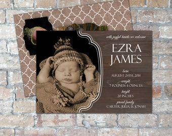 Rustic Birth Announcement {Digital Item}
