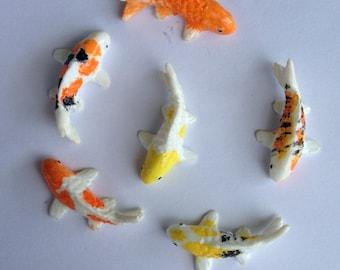 12 Miniature Koi Fish for Fairy Garden or Miniature set Pond