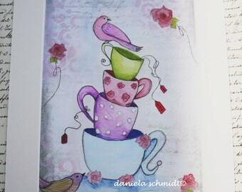 """Print """"Teacups"""""""
