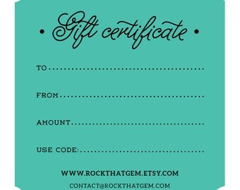 Gift Certificates >>