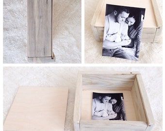 8x8 shallow pine photo box
