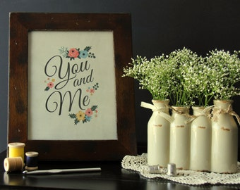 "SALE! 8"" x 10"" Cardstock Print - You and Me from Fancy Pants"