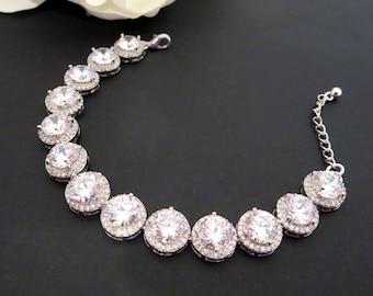 Bridal bracelet, Bridal crystal bracelet, Tennis bracelet, Wedding jewelry, Bridal jewelry, Rhinestone bracelet