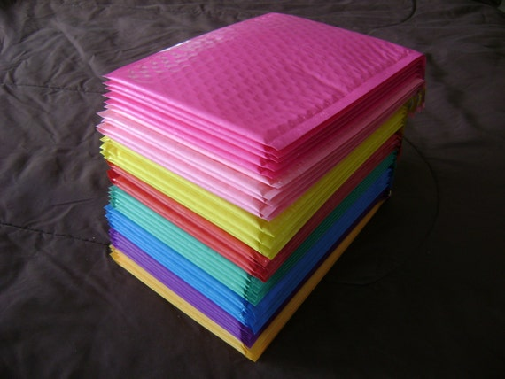 40 6x9 Color Bubble Mailer Self Seal Adhesive Envelope Padded
