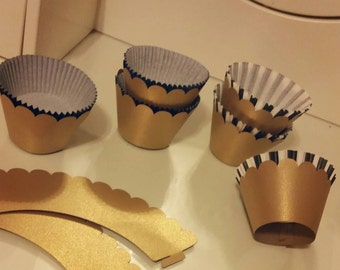 Gold cupcake wrappers