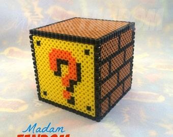 Super Mario Small Gift Box with Lid - Super Mario Bros Party Decor, Mario Question Block