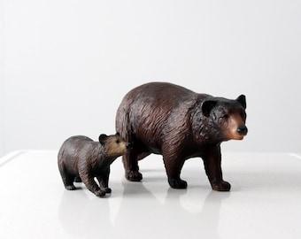 vintage Breyer Molding company brown bear and cub