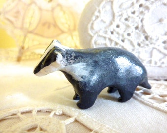 Badger Totem Figurine