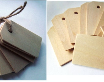 50 Count Wood Gift Tags Blank Wooden Tags for Wine, Decor Or Weddings, Blank Wooden Tags For Wedding Gifts Or Add Style To Gift Or Setting
