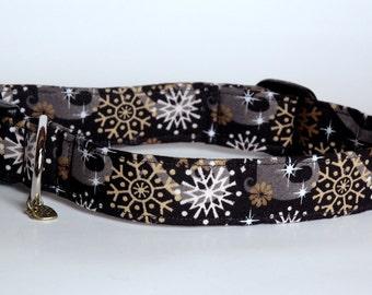 """Handmade Christmas Snowflake Dog Collar """"New"""""""