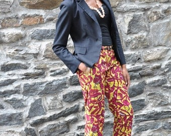 African Print Pants- The Maddie Trouser Floral