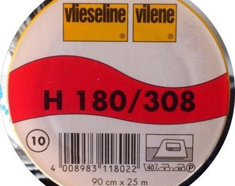 Vilene / Pellon H180/308 White Easy Fuse Lightweight Interfacing 90cm wide Half Metre