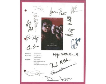 The Lost Boys Movie Script Signed Autographed Jason Patric, Corey Feldman, Corey Haim, Kiefer, Sutherland, Dianne Wiest