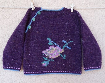 Knitted Tweedy Pull With Embroidery