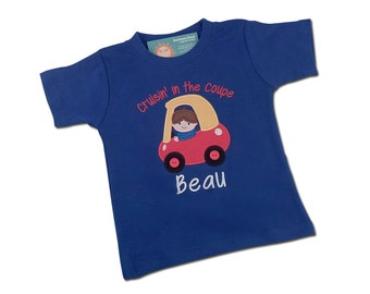 Boy's Coupe Birthday Shirt with Cruisin' Coupe and Embroidered Name