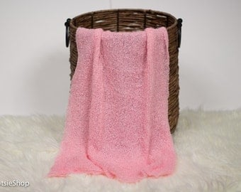 Pink Stretch Knit Wrap, Newborn, Maternity Photo Session Prop