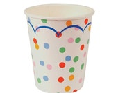 Meri Meri Toot Sweet Paper Cups, Spotty Cups, Disposable Party Cups Polka Dot