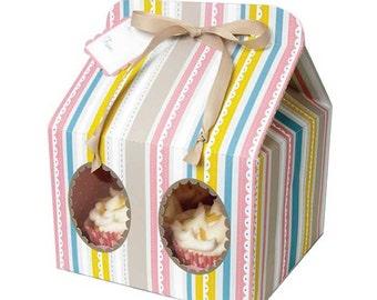 SALE Bakery Box, Meri Meri Large Cake Boxes, Pastel Stripe Cupcake Box, Baby Shower Birthday