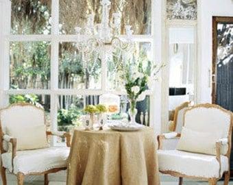 Burlap Tablecloths - Round Tablecloths - Wedding Tablecloths - Rustic Wedding - Wedding Decor - Tablecloths - Set of 2