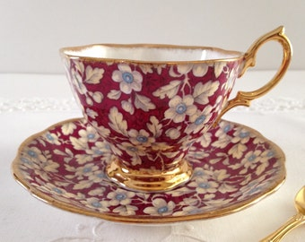 Royal Albert Chintz China Tea Cup & Saucer