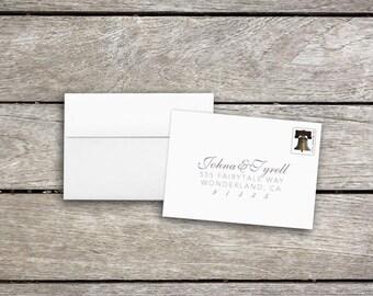 Stamped RSVP Envelopes