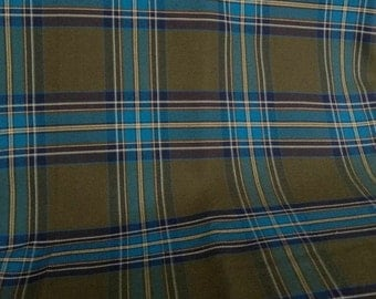 SALE!!!! Large Plaid Suiting in Olive Green, Turquoise Blue, Eggplant Purple and White