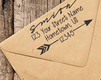 Self-Inking Custom Arrow Address Stamp