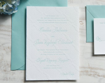 The Cecillia Suite |  Letterpress Wedding Invitation SAMPLE