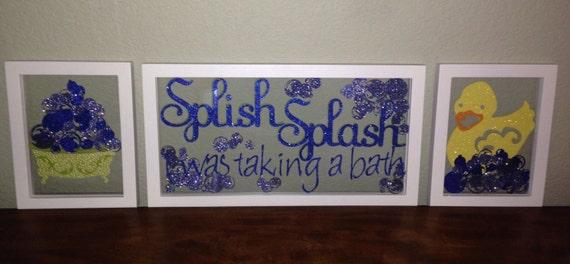 items similar to kid 39 s bathroom wall art splish splash i. Black Bedroom Furniture Sets. Home Design Ideas