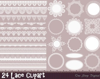 Instant Download Digital Lace Doily Clipart Lace Frame Lace Border Element Digital Lace Border Frame Scrapbook Lace Clip Art 0111