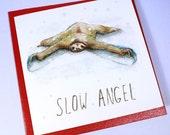 Slow Angel - Sloth Christmas Card