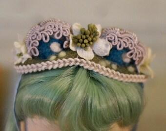 Blythe Victorian Frog Hat