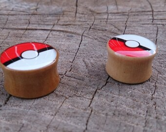 Pokemon/ Poke Ball gauges plugs sizes are in MM 10, 12, 14, 16, 18, 20  MM DD