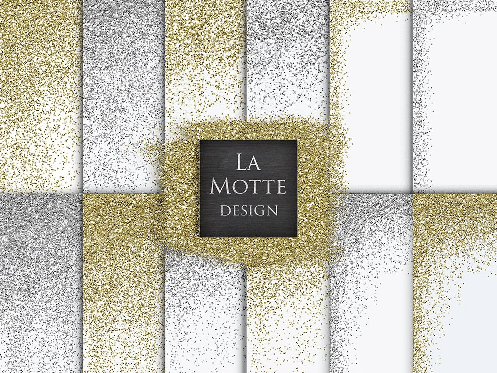 digital glitter overlay confetti glitter borders silver gold glitter digital glitter overalys 12 high res png