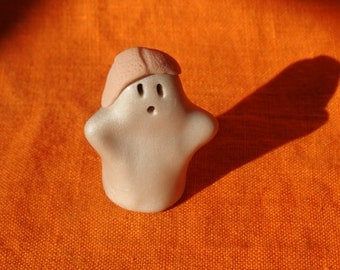 Ghost Boo Boo 2, Halloween miniature ghost figurine, handmade miniature ghost sculpture, miniature ghost Halloween decoration