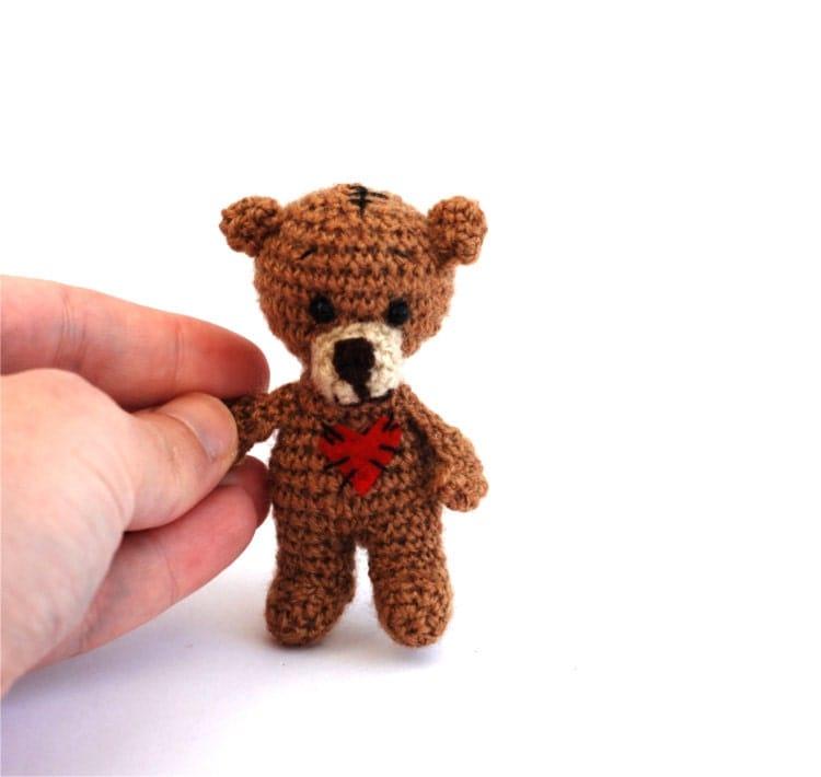 Amigurumi Mini Bear : amigurumi doll mini bear walking bear tiny by ...