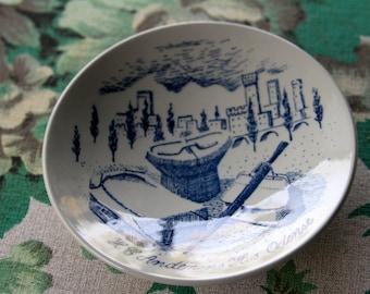 Vintage Mid Century Nymolle Denmark Pottery Hans Christian Andersson  Souvenir Trinket Dish