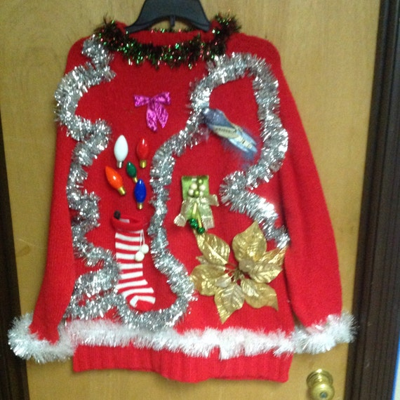 Beautiful Ugly Christmas Sweater Size XL by TeamUganda on Etsy