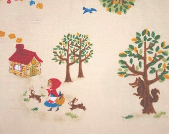 Fat Quarter of Fairy Drop Little Red Riding Hood fabric, Made in Japan.