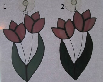 Stained Glass Tulip Suncatchers