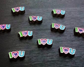 I (Heart ) U Floating Charm for Floating Lockets-Gift Idea