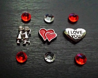 Love Floating Charm Set for Floating Lockets-Gift Ideas for Women