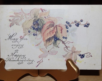 Lovely Antique Thanksgiving Postcard Unused